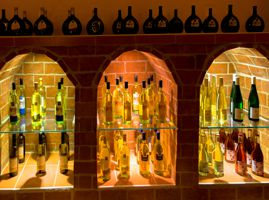 lighted wine cellars